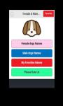 Female and Male Dog Names screenshot 1/4