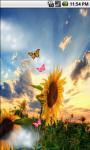 Sunflower Field Cute Live Wallpaper screenshot 1/5