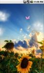 Sunflower Field Cute Live Wallpaper screenshot 2/5