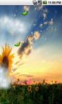 Sunflower Field Cute Live Wallpaper screenshot 3/5