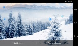 Snowfall 3D Live Wallpaper  screenshot 3/4
