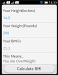 BMI Teller screenshot 1/3