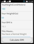 BMI Teller screenshot 3/3