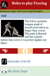 Rules to play Fencing screenshot 3/3