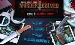 Free Hidden Object - Murder I Solved-Bloody Knife screenshot 1/4
