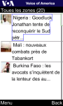 VOA French for Java Phones screenshot 1/6