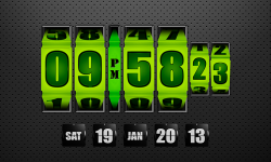 3D Rolling Clock widgets GREEN screenshot 1/1