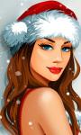 Santa Claus Girl Live Wallpaper screenshot 1/3