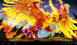 3D Phoenix Bird Live Wallpaper screenshot 1/5