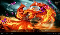 3D Phoenix Bird Live Wallpaper screenshot 2/5