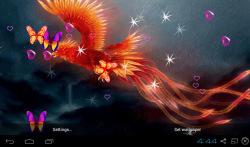 3D Phoenix Bird Live Wallpaper screenshot 5/5