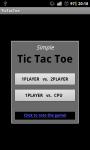 Simple TicTacToe  FREE screenshot 1/4