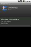 Contact Back Up Pro screenshot 1/3