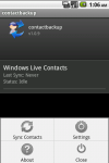 Contact Back Up Pro screenshot 2/3