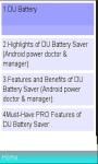 DU Battery Saver More Power screenshot 1/1