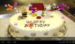 3D Happy Birthday Live Wallpaper screenshot 4/5