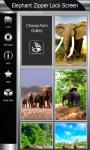 Elephant Zipper Lock Screen screenshot 4/6