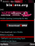 Biskero mobile site screenshot 1/1