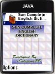 Sun Complete English Dictionary screenshot 1/1