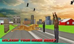 Angry Wild Cheetah: Crazy City screenshot 3/4
