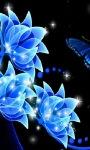 Blue Flowers Live Wallpaper screenshot 2/3