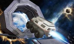Jet Car Stunt Zone in space 3D screenshot 1/4