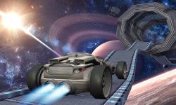 Jet Car Stunt Zone in space 3D screenshot 2/4