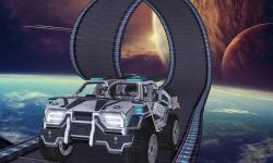 Jet Car Stunt Zone in space 3D screenshot 3/4