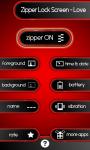 Zipper Lock Screen – Love screenshot 2/6