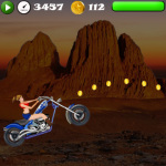 Girls Stunt Rider V2 screenshot 1/3