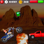 Girls Stunt Rider V2 screenshot 2/3