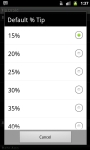 Tip Droid Tip Calculator screenshot 3/4