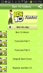 Ben 10 Cartoon Video Collections for Kids screenshot 1/4