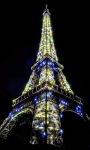 Eiffel tower Glow Live Wallpaper screenshot 1/3
