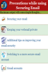 Precautions while using Securing Email screenshot 2/3