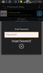 PasswordDiary screenshot 2/5