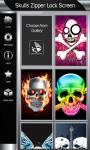 Skulls Zipper Lock Screen screenshot 4/6