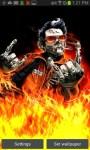 Zombie Guitarist Fire Play LWP free screenshot 2/4