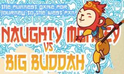 Naughty Monkey vs Big Buddha : The Funniest Game screenshot 1/6