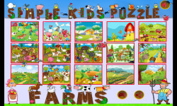 Simple Kids Puzzle - Farms screenshot 1/6