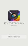 Photo EditorPro  screenshot 1/6