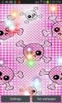 Pink Girly Skulls LWPfree screenshot 4/4