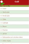 Rules to Play Golf screenshot 2/3