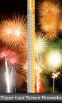 Zipper Lock Screen Fireworks screenshot 1/6