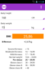 BMI Calculator - for women  screenshot 2/3