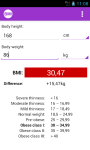 BMI Calculator - for women  screenshot 3/3