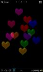 Glass Hearts 2D Live wallpaper screenshot 2/3