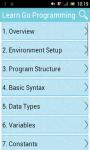 Learn Go Programming screenshot 1/2