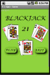 Blackjack Game on Android Mobile screenshot 1/1