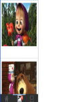 Cute Masha and The Bear Wallpaper HD screenshot 2/2